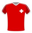 flag t-shirt of switzerland vector image vector image