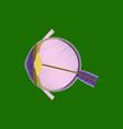 flat shading style icon eye vector image