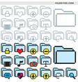 folder pixel icons vector image vector image