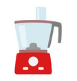 food processor simple icon isolated household vector image