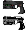 futuristic pistol vector image vector image