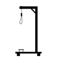 Gallows in black color art object vector image
