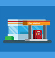 gas station convenience store in rest area flat vector image vector image
