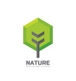 green tree - business logo template concept vector image