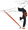 Gymnast in color 04 vector image vector image