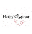 hand lettering greeting merry christmas vector image vector image