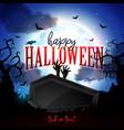 happy halloween banner with moon vector image vector image