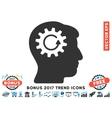 Head Gear Rotation Flat Icon With 2017 Bonus Trend vector image vector image