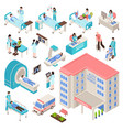 hospital isometric set vector image vector image