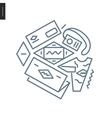 Identity outlined icon vector image