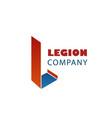 legion company emblem vector image vector image