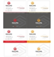 letter s business card 1 vector image vector image