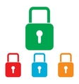 Lock sign Colorfull set vector image