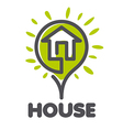 logo House in the form of a flower vector image vector image