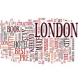 london for a weekend text background word cloud vector image vector image