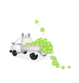 Many Four Leaf Clovers on A Pickup Truck vector image vector image