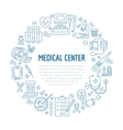 Medical poster template line icon vector image vector image