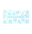 mission statement horizontal blue outline vector image vector image