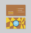modern simple light business card template with vector image