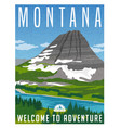 montana travel poster vector image vector image
