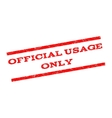 Official USAge Only Watermark Stamp vector image vector image