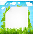 Paper With Beams And Sprout vector image vector image