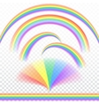 Rainbows in different shape vector image vector image