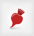 red beet symbol vector image