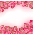 Rose background with copyspace vector image
