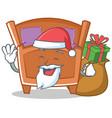 santa cute bed character cartoon vector image
