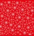 seamless christmas snowflake red background vector image vector image