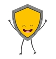 shield character cute icon vector image