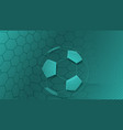 Soccer background in turquoise colors