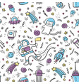 space doodle pattern universe pattern vector image vector image