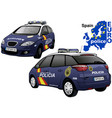 spain police car vector image vector image