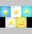 star web icons vector image vector image