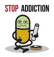 stop addiction marijuana conceptual vector image