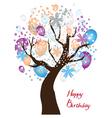 tree birthday vector image