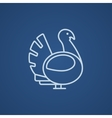 Turkey line icon vector image vector image
