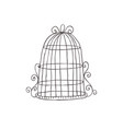 vintage decorative birdcage vector image