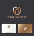 wedding rings logo salon emblem vector image vector image