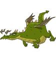 green flying dragon vector image