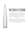 Vintage weapons poster vector image