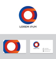 Abstract logo brand icon business card template vector image vector image