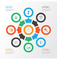 administration icons set with project presentation vector image