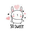 adorable bunny vector image vector image