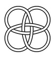 amulet celtic knot celtic knot intertwined vector image vector image