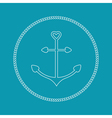 Anchor in shapes of heart Round rope frame label vector image vector image