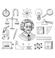 atom and voltmeter with perpetual motion circuit vector image vector image
