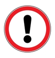 attention sign on white background vector image vector image